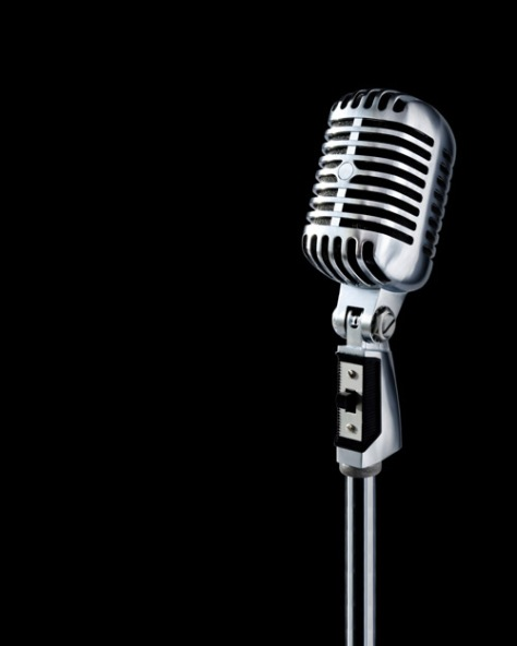 microphone_black_background