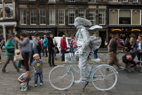 Royal Mile, Edinburgh, Scotland; Living Statue Performer; Fringe Festival
